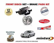 FOR JAGUAR S TYPE 2.7TD V6 2006-2008 FRONT BRAKE DISCS  SET AND DISC PADS KIT