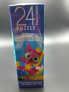 """PINK FONG Baby Shark 24 pieces puzzle 10.3""""X9.1""""  NEW"""