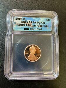 2008 S PROOF MEMORIAL CENT ICG PR-69 DCAM - PROOF LINCOLN - CERTIFIED SLAB - 5C