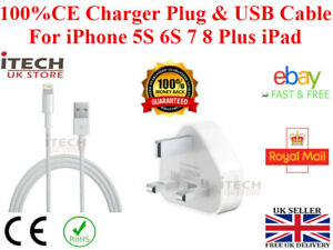 100% Genuine Charger Plug & USB Cable For iPhone 5S 6S 78 Plus XS XR X Max