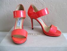 JIMMY CHOO Neon Patent – Geranium Shoes. Size 35/US 5. $795 NIB