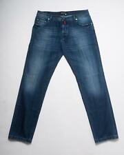 Kiton NWT Blue Faded Slim Cotton Blend Stretch Selvedge Denim Jeans 40