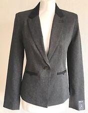 Atmosphere Grey Jacket Black Trim Size 10 BNWT