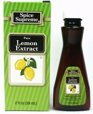 Spice Supreme® PURE LEMON EXTRACT new fresh USA MADE spices baking cooking SPICE