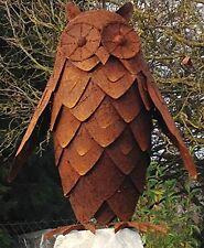Sehr schöne Eule Uhu 3D Höhe 63cm Edelrost Rost Rostfigur Metall Figur Tier