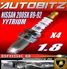 FITS NISSAN 200SX 1.8 89-92 CA18DET BRISK SPARK PLUGS X4 YYTRIUM