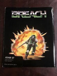 """Breach Atari ST Game on 3.5"""" disks with manual"""