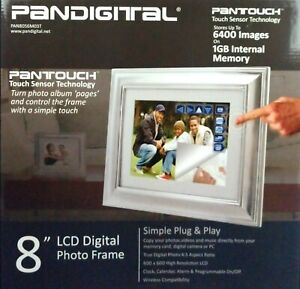 """Pandigital PAN8056M03T 8"""" LCD Digital Photo Frame W/ Pantouch Touch Sensor Tech."""