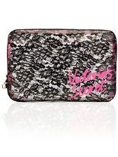 Victoria's Secret Makeup Cosmetic Bag Clear Black Lace Large Case