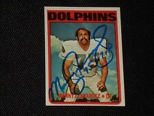 MANNY FERNANDEZ 1972 TOPPS ROOKIE SIGNED AUTOGRAPHED CARD #221 DOLPHINS