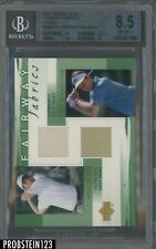 2002 Upper Deck Fairway Fabrics Mickelson Weir Patch BGS 8.5