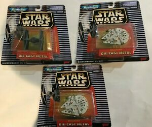 Star Wars Micro Machines Die Cast Tie Fighter Two Millennium Falcon New on Card