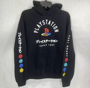 PLAYSTATION JAPAN 1994 Black Pullover Hoodie Sweatshirt Sz Large Logo L