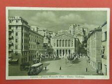 SAVONA Piazza Armando Diaz autobus bus teatro Chiabrera vecchia cartolina