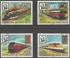Timbres Trains Haute Volta 484/7 o lot 10136