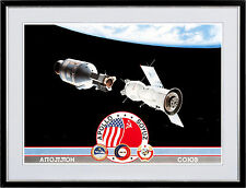 Apollo-Soyuz Project Limited Edition Lithograph #1280/1500, Signed by Four HUGE!