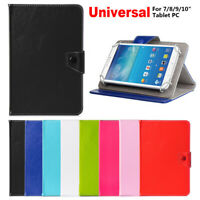 "Universal Leather Stand Case Cover For 7"" 8"" 9"" 10.1"" Samsung Tab Android Tablet"