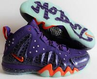 NIKE BARKLEY POSITE MAX COURT PURPLE-TEAM ORANGE SZ 10.5 [555097-581]