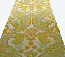 VINTAGE Original Damask Paisley Anthro Lily Wallpaper 1970s 1960s retro