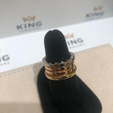 BVLGARI B.Zero 18K Tri Gold (Yellow/White/Pink) Ring - Size 6 1/2