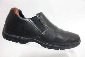 COLE HAAN Zeno Black Sz 11.5 M Men Leather Gore Slip-On Loafers