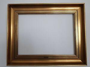 (L) alter Bilderrahmen vergoldet schlichte elegante Leiste FM 41,2 x 55,4 cm