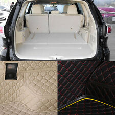 PU Rear Trunk Cargo Liner Protector Mat Seat Back Cover For Toyota Highlander