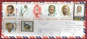 MAHATMA GANDHI FULL SET 1969&2001,RS25DODO,REGISTERED COVER TO UK.19MR09.SUPERB