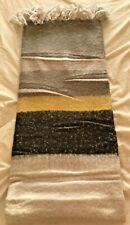 Bedding Heaven Grey, Black & Yellow Striped Blanket / Throw 130 x 150 cm