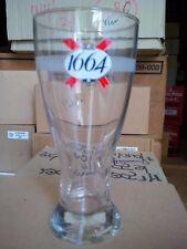 6 verres à bière 1664 gravés 50 cl + 6 sous-bocks