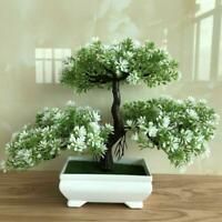 Bonsai Simulation Artificial Plants Flowers In Pots Home Office Fake Tree Decors