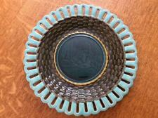 "Wedgwood Majolica 8 1/2"" King Louie plate pattern M2532 circa 1878"