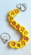 HANDMADE yellow orange Daisy Headband Daisy Duke Floral Daisy Hairband Crown
