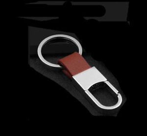 Men Metal Leather Key Creative Chain Ring Keyfob Car Keyring Keychain Gift