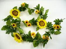 170cm Artificial Silk Flowers Yellow Sunflower Garland