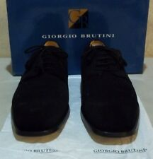 New Giorgio Brutini #170041 14 M black sueded leather (5576)