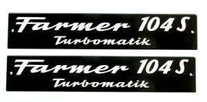 FENDT Schild Motorhaube Farmer 104S Turbomatik Alu geprägt