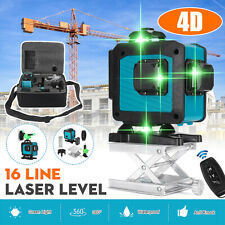 4D 360° 16 Lines Green Light Laser Level Auto Self Leveling Rotary Cross Measure