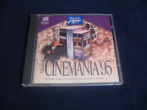 Microsoft Cinemania 95 Guide to Movies And Moviemakers Windows 95 3.1 Software