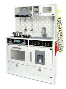 Cucina elettronica per bambini in legno MODERN WHITE