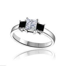 Very Good Cut Simulated Three-Stone Fine Diamond Rings