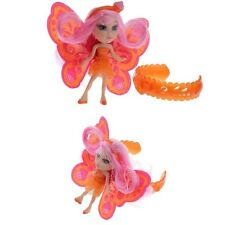 MATTEL BARBIE T7468 A FAIRY SECRET MINI DOLL AND ORANGE BRACELET SET, NEU & OVP