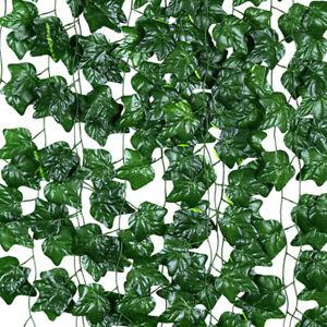 UK Artificial Ivy Leaf Plants Fake Hanging Garland Plant Vine Foliage Home Decor