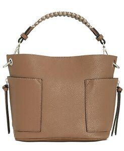 NEW Steve Madden Sammy Bucket Hobo Handbag Taupe Brown Bucket PURSE NWT