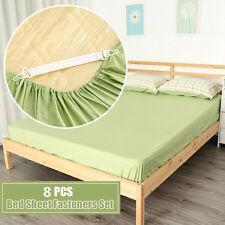 8pcs Elastic Bed Sheet Mattress Cover Blanket Grippers Clip Holder Fasteners Set