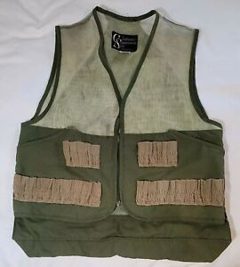 Vintage Columbia Sportswear Vest Hunting Fly Fishing Khaki Green XL       (R1B2)