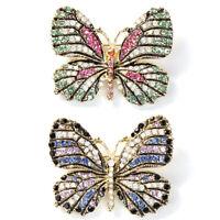 Schmetterling Multicolor Strass Brosche Emaille Jacke Mantel Anzug kragen K/U