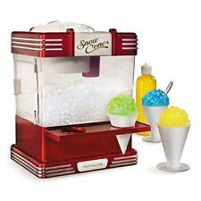 Nostalgia Rsm602 Countertop Snow Cone Maker Makes 20 Icy Treats, Includes 2 Reus