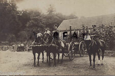 WW1 Drivers Royal Fusiliers with Horse Transport & Field Kitchen Germany 1918/19