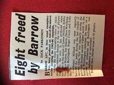 m2M ephemera 1966 football article barrow f c release 8 players millard martin